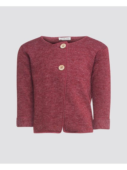 Button Long Sleeve Kids Cardigan