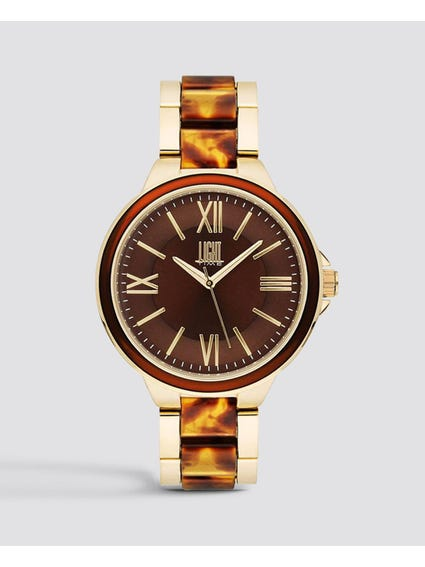 Brown Dial Quartz Watch