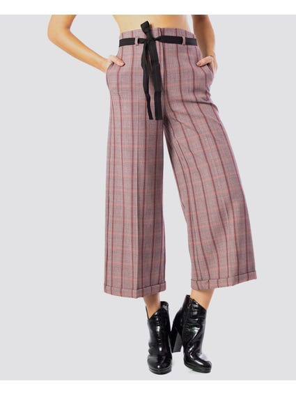 Stripe High-Waist Trousers