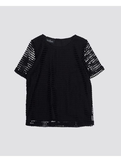 Crochet Short Sleeves Kids Top