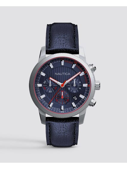 Taylor Leather Chronograph Watch