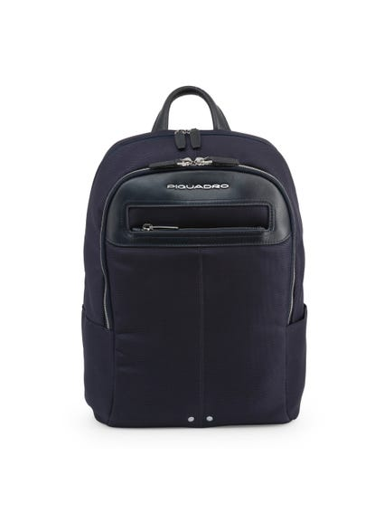Blue Handle Multi Zipper Pocket Backpack