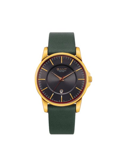 Green Gold Analog Watch