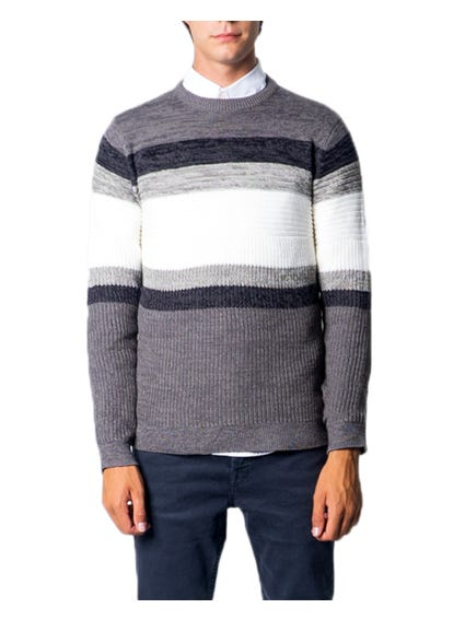 Block Lining Long Sleeve Knitwear
