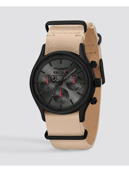 Black Dial Multifunction Watch