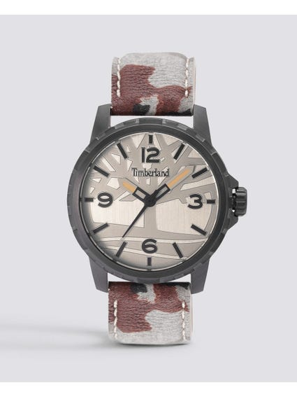 Grey Dial Camouflage Strap Watch