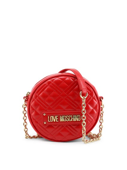 Red Round Quilted Body Bag