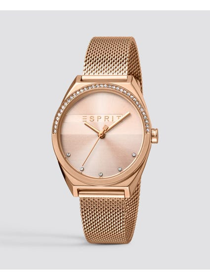 Rose Gold Dial Analog Watch