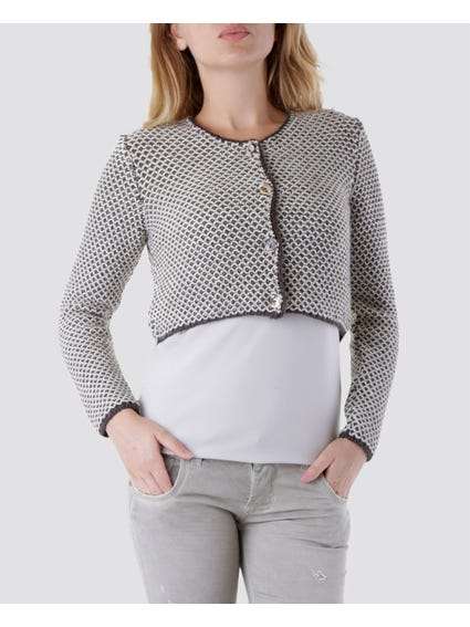 Beige Button Front Sweater