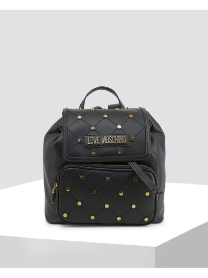 Black Cross Studded Backpack