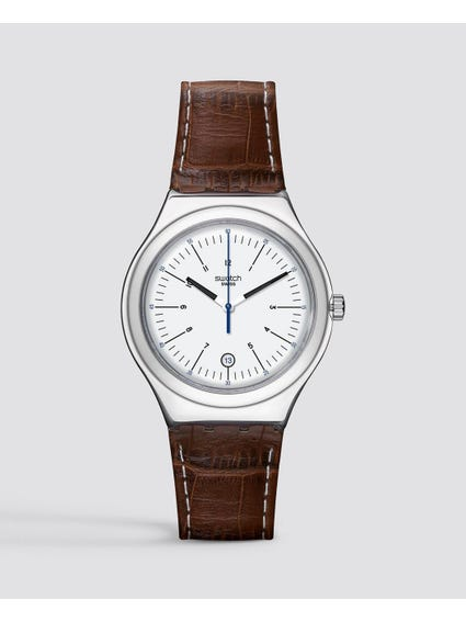 Brown Appia Analog Leather Watch