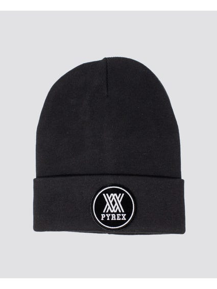 Black Embroider Logo Beanie