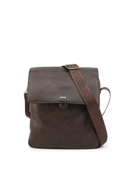 Brown Tuscany Flap Zip Crossbody Bag