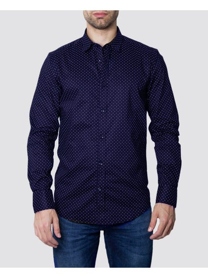 Polka Doted Blue Shirt