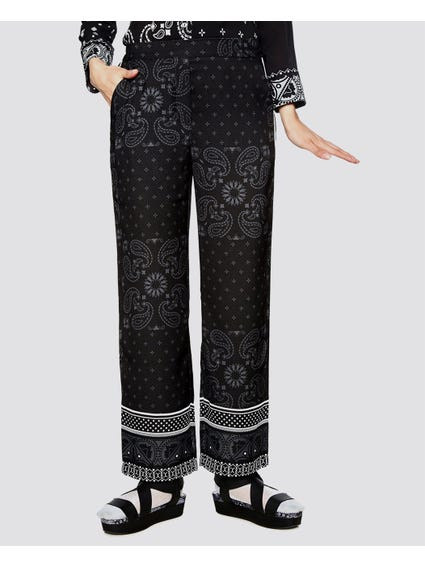 Paisley Pattern Elasticated Trouser
