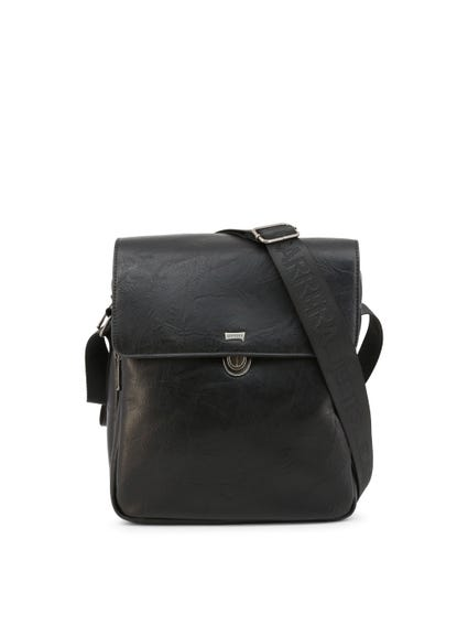 Black Tuscany Flap Zip Crossbody Bag