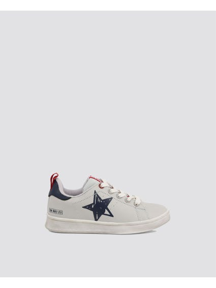 Grey Star Kid Sneakers
