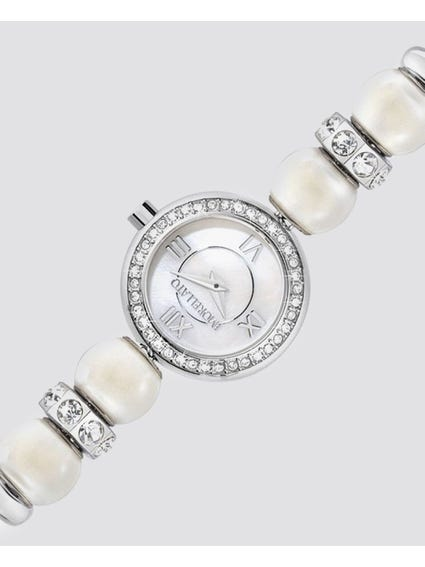Silver Drops Jewelled Analog Watch