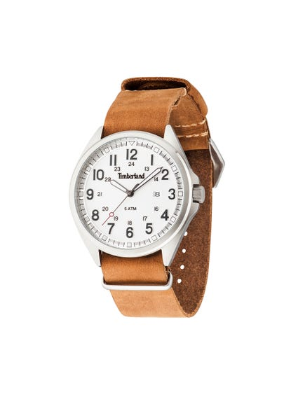 Leather Strap Dial Analog Watch