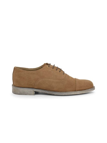 Brown Suede Camoscio Lace Up Shoes