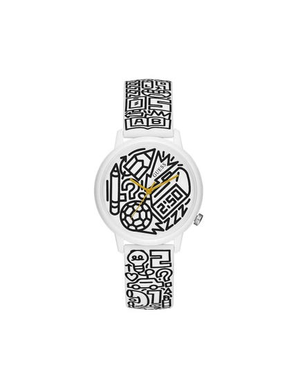 White Graphic Dial Analog Watch