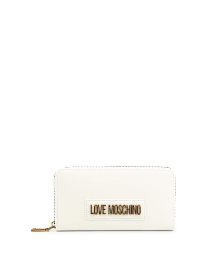 White Envelope Zip Wallet