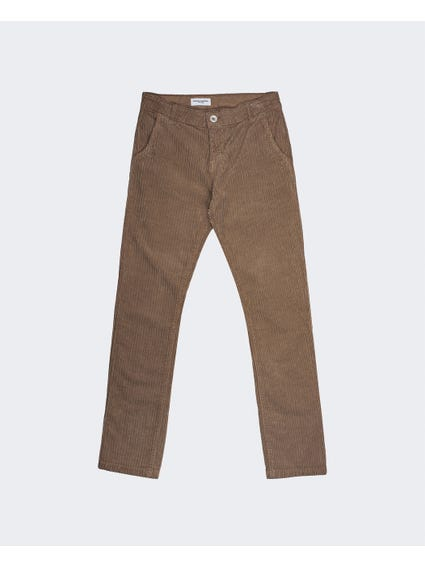 Brown Full Length Kids Trouser