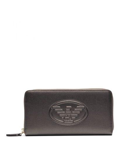 Leather Round Zipper Wallet