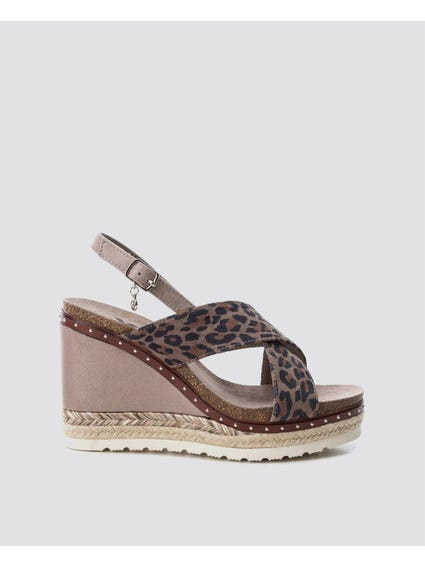 Animal Print Wedge Sandals