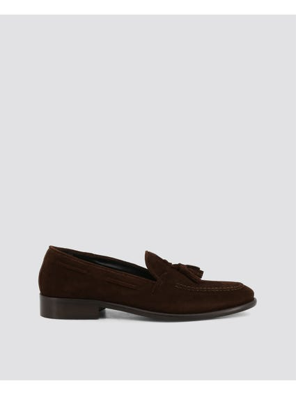 Dark Brown Anemaecore Tassel Side Lace Loafers