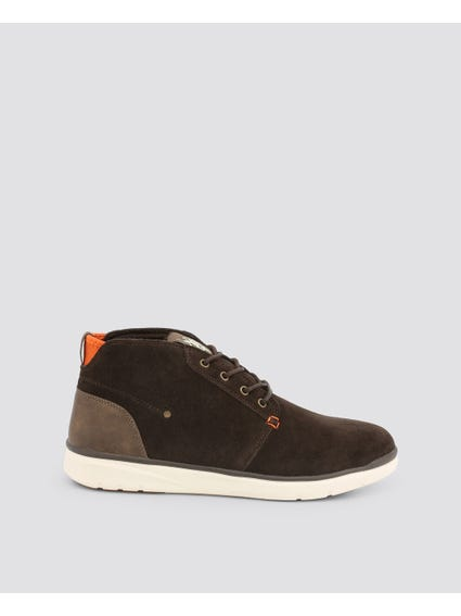 Brown Ygora Perforated Casual Lace Up