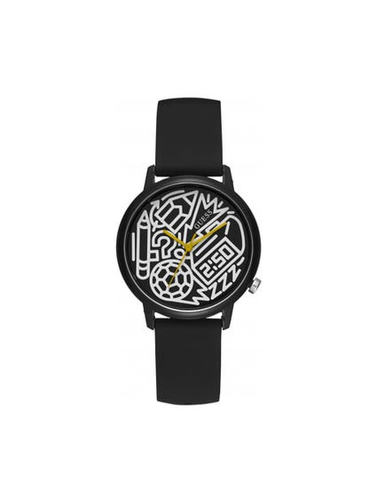 Black Graphic Dial Analog Watch