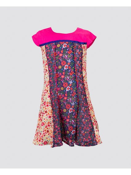 Blue Floral Kids Dress