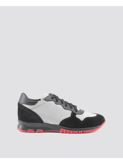 Grey Alessio Cleated Sole Sneakers