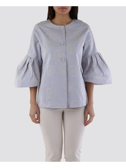 Three Button Wide Cuffs Top