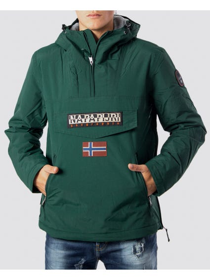 Green Embroidered Hooded Jacket