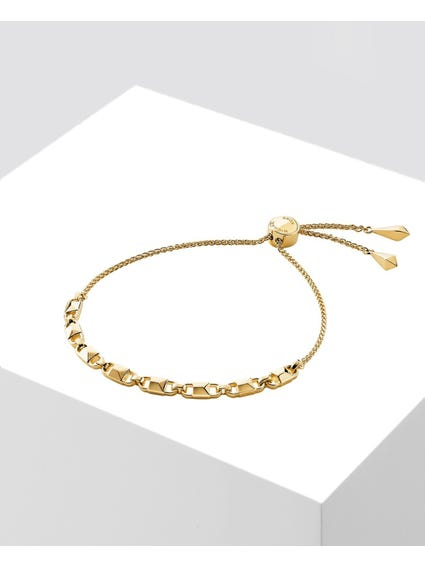 Mercer Link Sterling Gold Slider Bracelet
