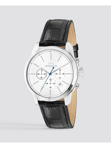 White Silver Round Dial Watch