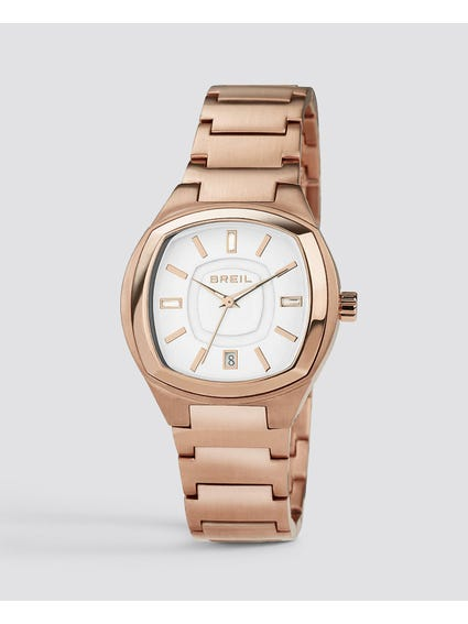 White Dial Aida Analog Watch