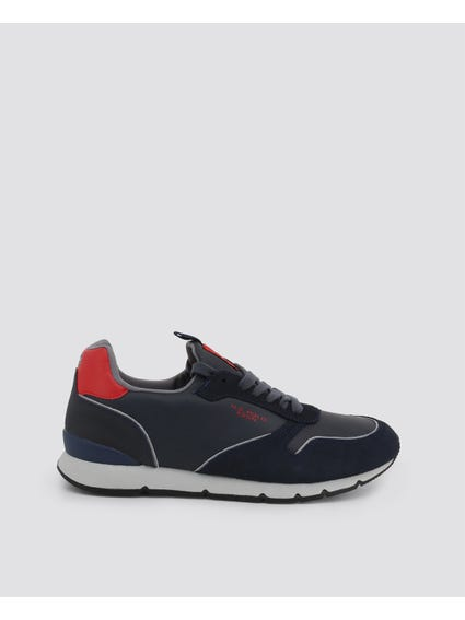 Red Maxil Contrast Sole Sneakers