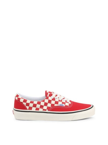 Red Upper Checkered Sneakers