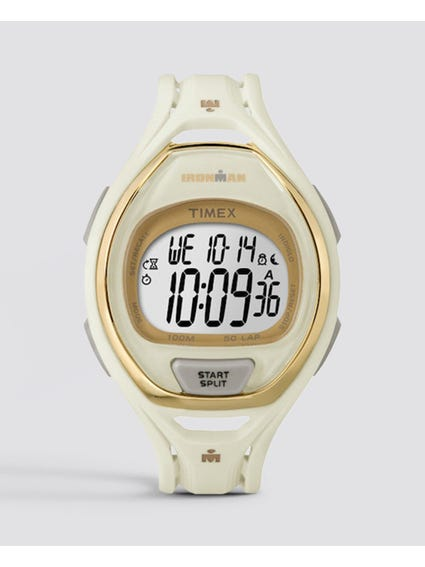 White Ironman Sleek 50-Lap Digital Watch