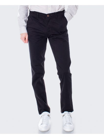 Black Plain Straight Trouser