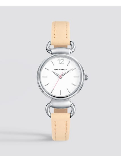 Beige Sweet Leather Kids Watch