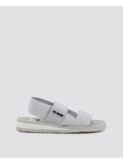 Silver Elasticated Sandals