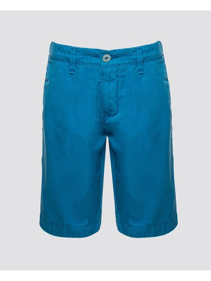 Classic Plain Button Kids Short