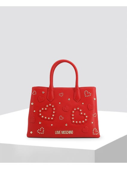 Red Double Grab Handbags