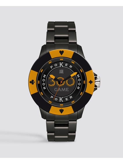 Multi Dial Poker Quartz Watch