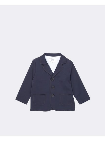 Collar Neck Two Button Blazer