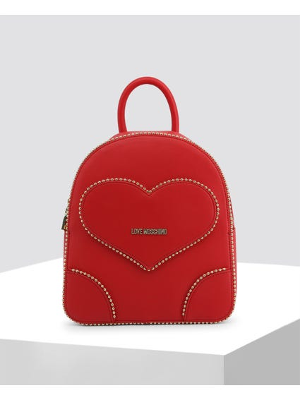 Red Studded Backpack